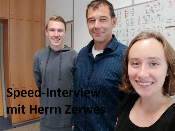 Speed Interview mit Herrn Zerwes Cover